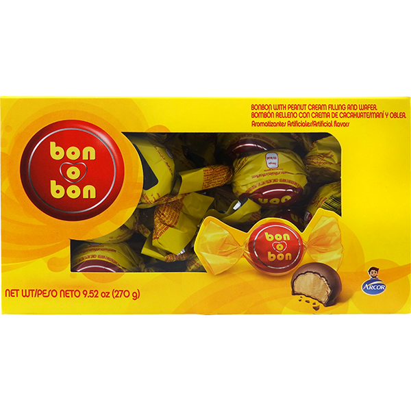 Arcor Bon Bon Chocolate with Peanut Cream Bite 9.52oz