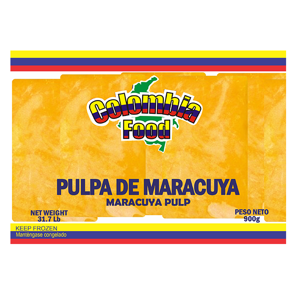 Colombia Food Maracuya Pulp Packs 31.7lb