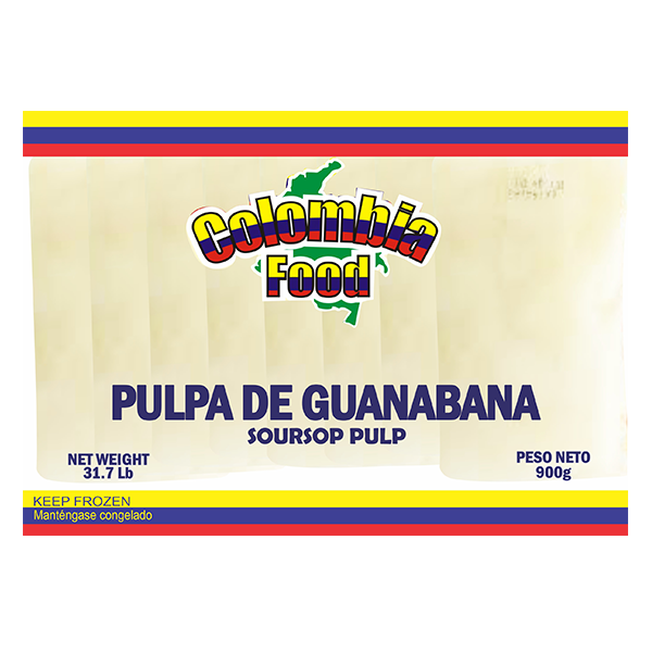Colombia Food SourSop Pulp Packs 31.7lb