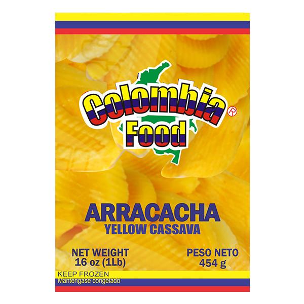 Colombia Food Yellow Cassava Frozen Vegetable 16oz