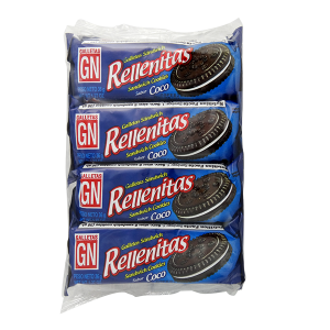 GN Rellenitas Sandwich Cookies with Coconut 8Pk 10.16oz