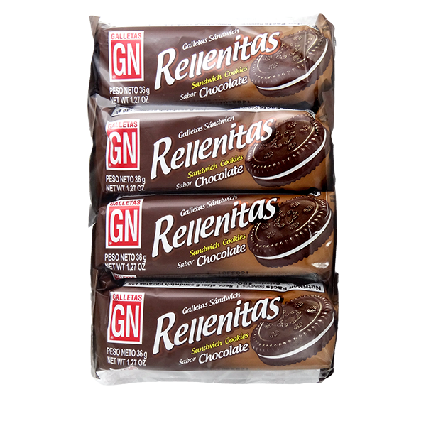 GN Rellenitas Sandwich Cookies with Chocolate 8Pk 10.16oz