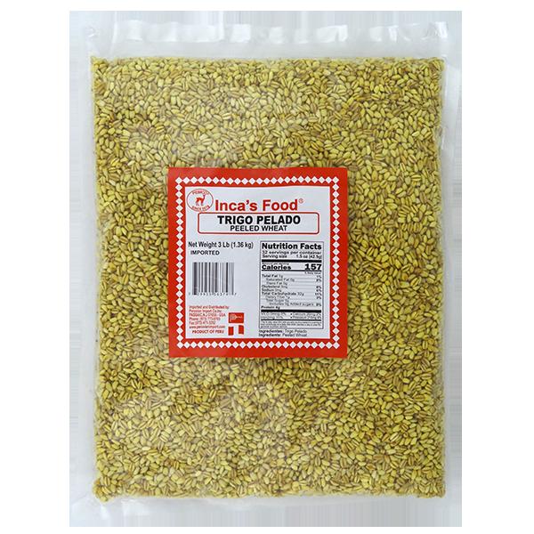 Inca's Food Peeled Wheat 3Lb