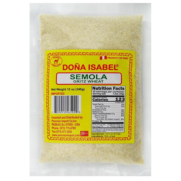 Dona Isabel Wheat Semolina 12oz