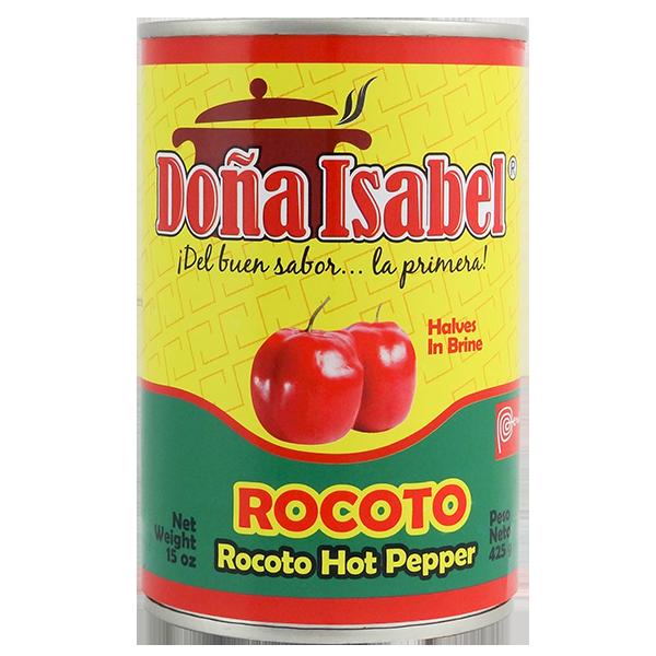 Dona Isabel Hot Pepper Halves in Brine 15oz