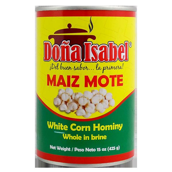 Dona Isabel White Corn Hominy in Brine 15oz