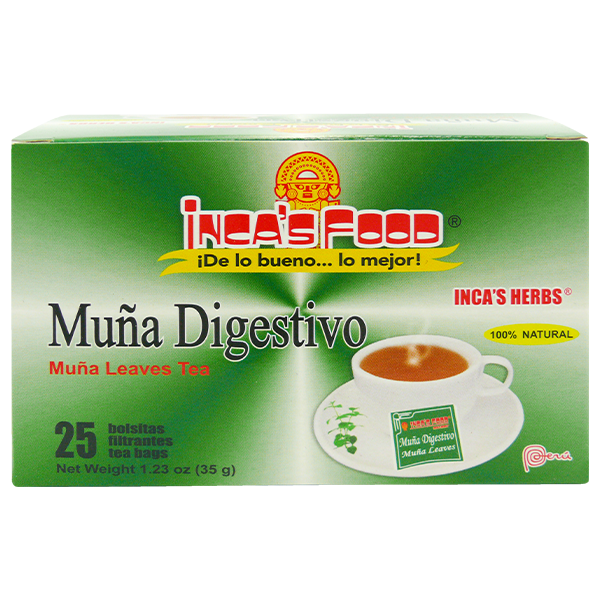 Inca's Herbs Muña Leaves Tea 25Pk 1.23oz