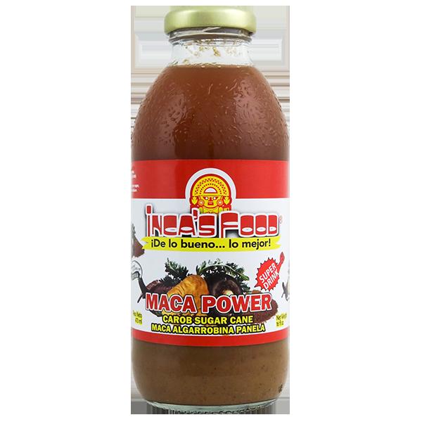 Inca's Food Maca Power Drink with Carob Sugar Cane 16 fl oz