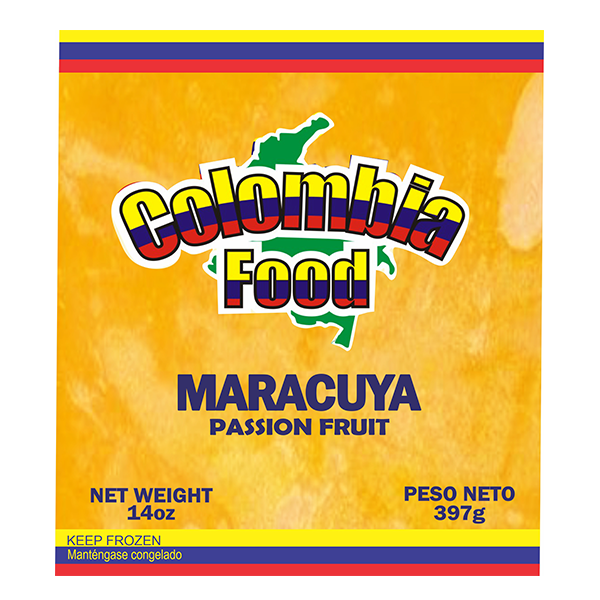 Colombia Food Passion Fruit Pulp 14oz