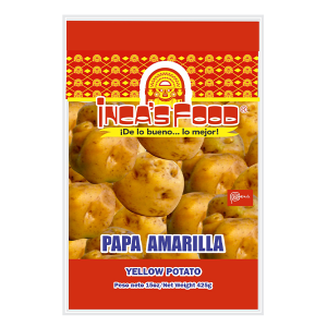 Inca's Food Precooked and Frozen Yellow Potato with Peel 15oz
