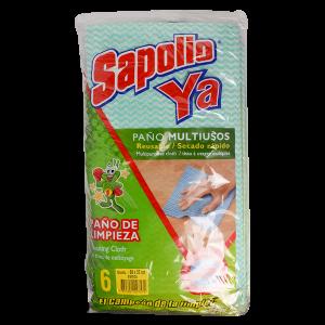 Sapolio Ya Reusable Multipurpose Cleaning Cloths 6Pk