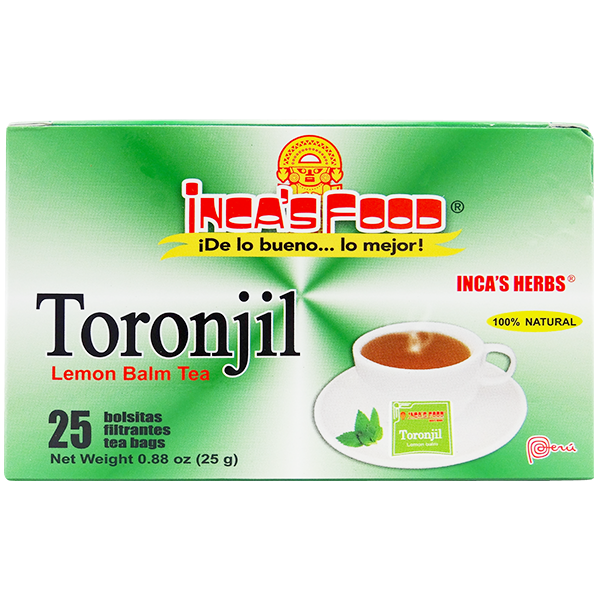 Inca's Herbs Lemon Balm Tea 25Pk .88oz