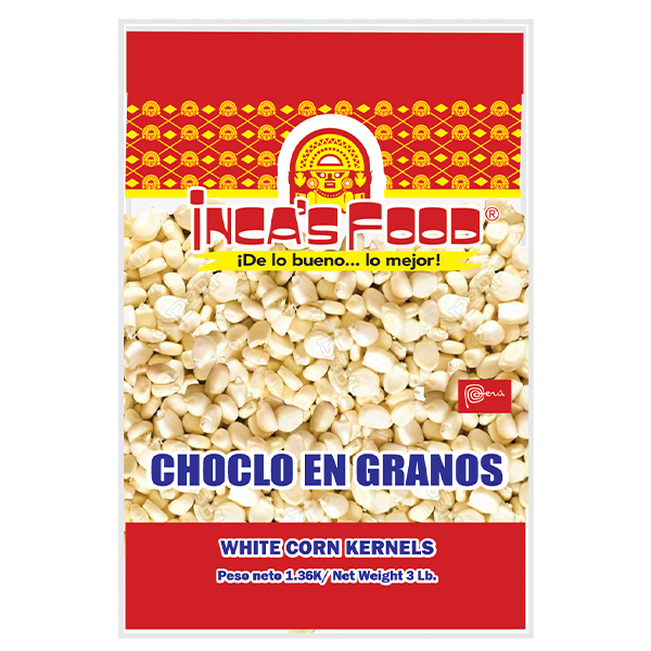 Inca's Food Precooked and Frozen White Corn Kernels 3Lb