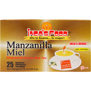 Inca's Herbs Chamomile with Honey Tea 25Pk .79oz